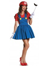 Super Mario w/ Skirt Womens Plus Size Costume