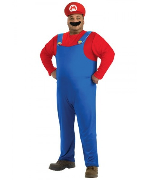 Mens Mario Plus Size Costume