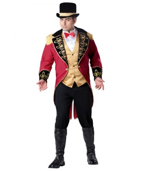 Mens Ring Master Plus Size Costume