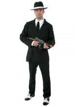 Mens Deluxe Gangster Plus Size Costume