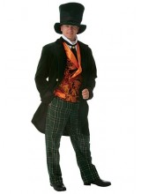 Mens Deluxe Mad Hatter Alice In Wonderland Plus Size Costume