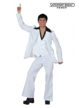 Mens Deluxe Saturday Night Fever Plus Size Costume