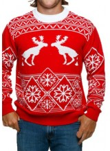 Mens Pooping Moose Ugly Christmas Sweater Plus Size Costume