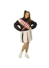 SNL Spartan Cheerleader Female Womens Plus Size Costume
