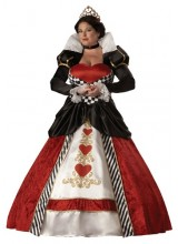 Womens Adult Queen of Hearts Plus Size Costume