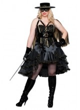 Womens Beautiful Bandida Plus Size Costume