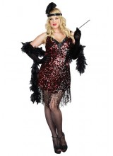 Womens Dames Like Us Flapper Plus Size Costume