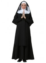Womens Deluxe Nun Plus Size Costume