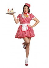 Womens Diner Doll Plus Size Costume