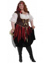 Womens Pirate Lady Plus Size Costume