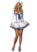 Womens Sexy Sailor Plus Size Costume