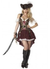 Womens Sexy Swashbuckler Captain Plus Size Costume