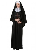Womens Traditional Nun Plus Size Costume