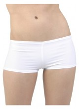 Womens White Hot Pants Plus Size Costume